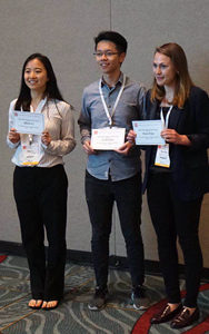 Shirley receives ASMS Best Undergraduate Poster